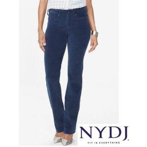 NWOT NYDJ Marilyn Straight Dk Wash Jeans - Size 10